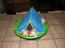 Backyard Tent Cake from D'Cakes by Diana