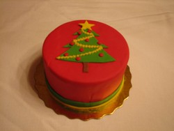 Christmas Tree Cake from D'Cakes by Diana