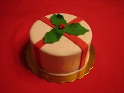 Mistletoe Ribbon Cake from D'Cakes by Diana